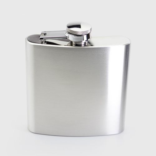 Taproom Stainless Steel Hip Flask 170ml / 6oz