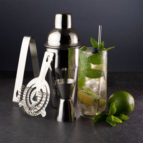 Taproom 5 Piece Stainless Steel Cocktail Set