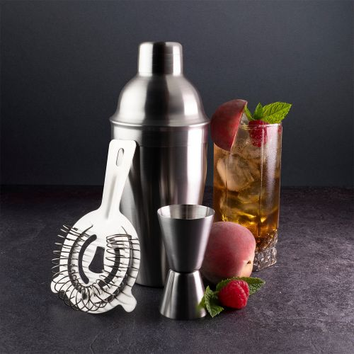 Taproom 3 Piece Stainless Steel Cocktail Set